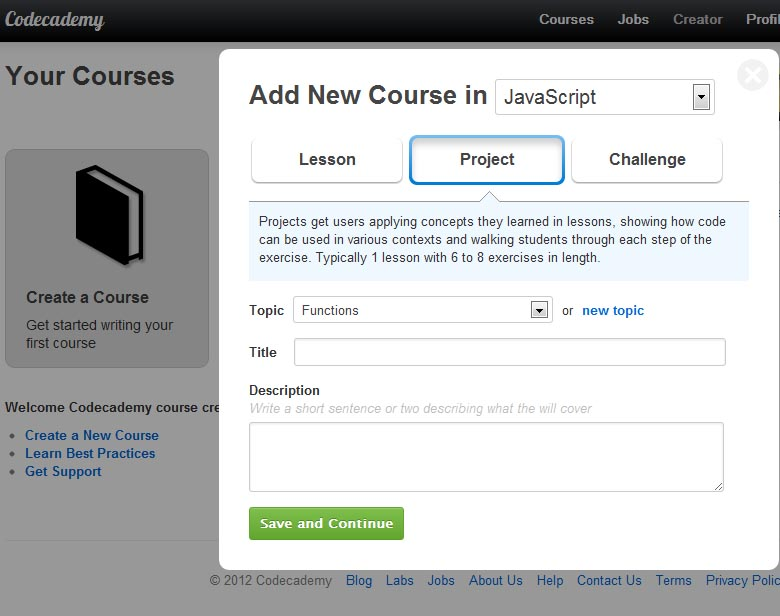 Building Programming Tutorials with Codecademy – ProfHacker - Blogs